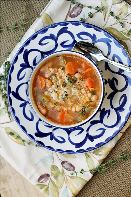 Post image for Tuscan Style Vegetable Soup
